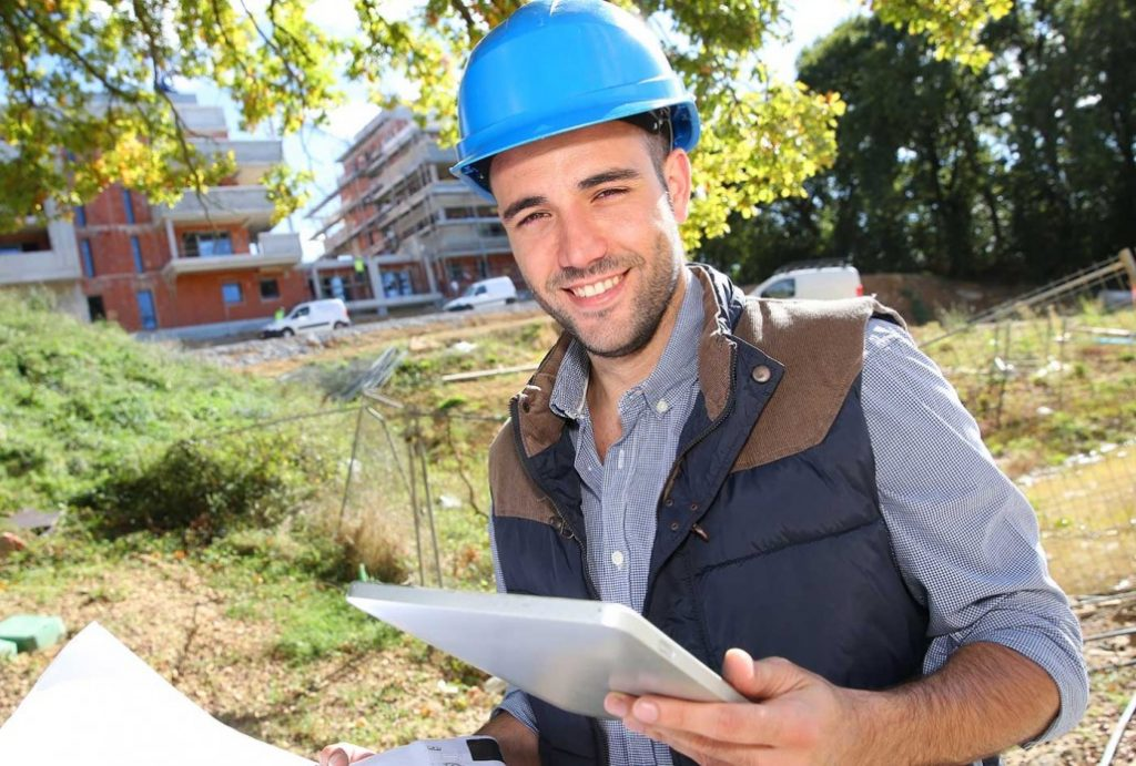 engineer with tablet